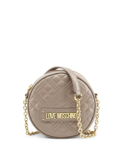 Grey Quilted Zip Crossbody Bag