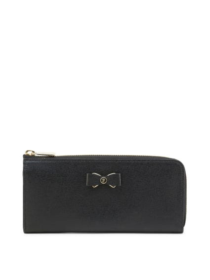 Black Ribbon Zip Glenda Wallet
