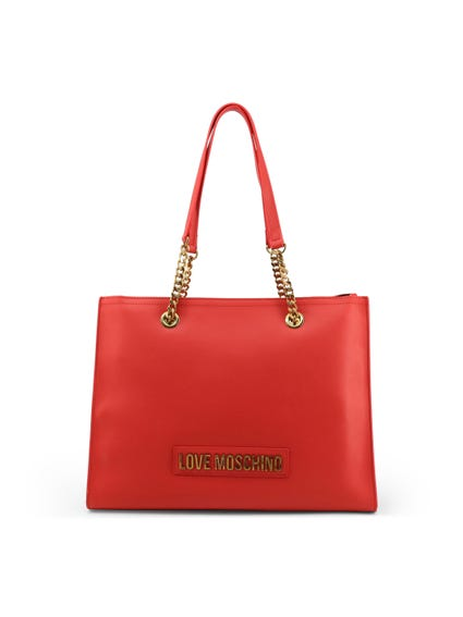 Red Leather Chain Shoulder Bag