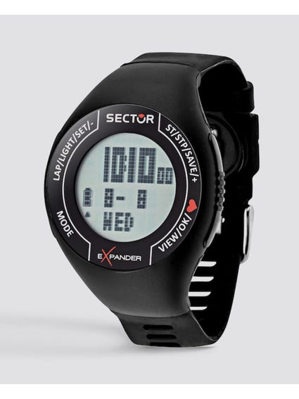 Black Silicone Strap Digital Watch