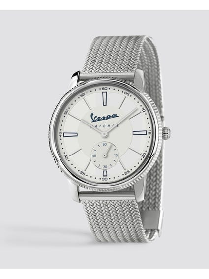 Silver Piccolo Secondo Stainless Steel Watch