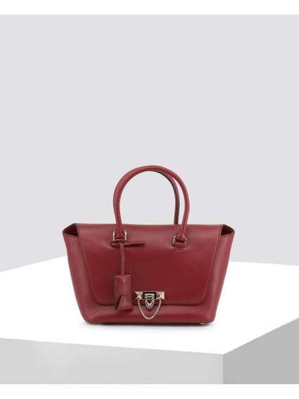 Red Smooth Leather Handbags