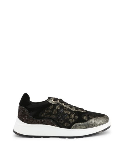 Metallic Mesh Lace Up Sneakers