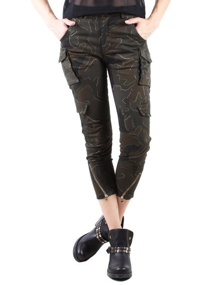 Camouflage Pocket Cargo Trousers