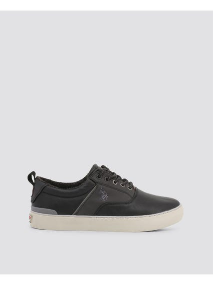 Black Anson Leather Sneakers