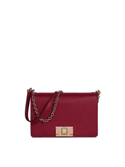 Red Strap Chain Small Crossbody Bag