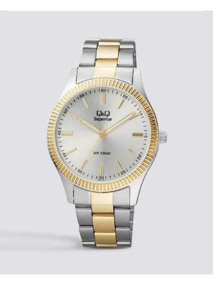 Two Tone Stainless Steel Analog Watch