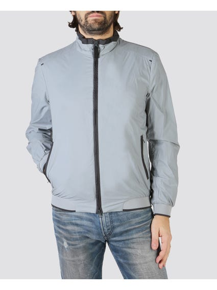 Alloy Grey Anorak Bomber Jacket