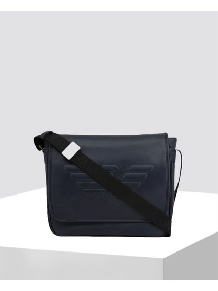 Black Embossed Crossbody Bag