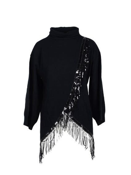 High Neck Sequin Knitwear