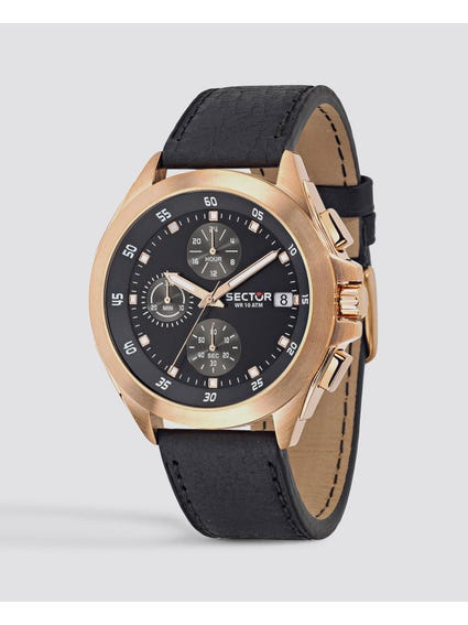 Black Chronograph Analog Watch