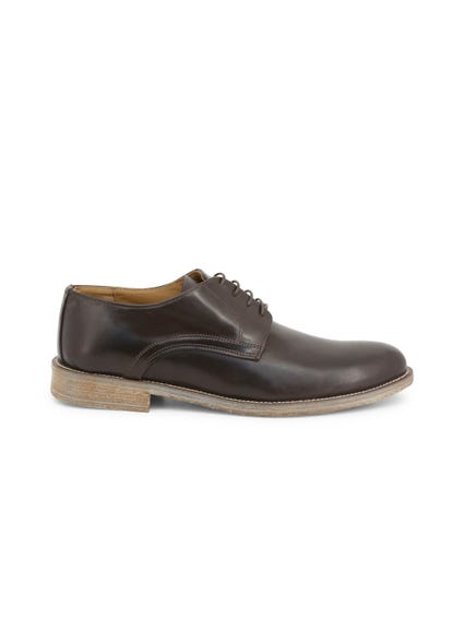 Brown Leather Crust Lace Up Shoes