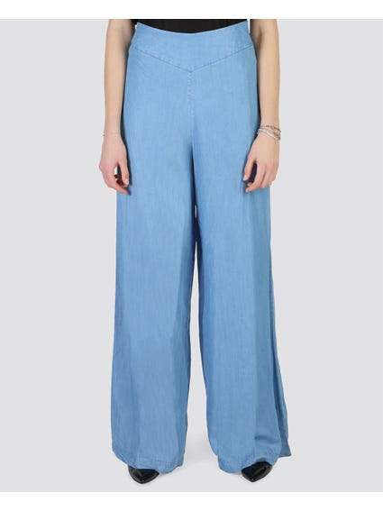Blue Waist Trousers