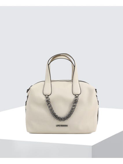 White Classy Leather Bag