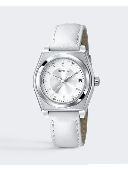White Dial Escape Analog Leather Watch
