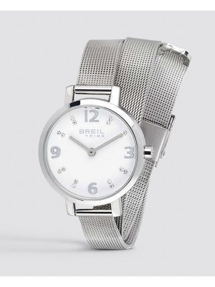 Silver Meet Up Analog Watch
