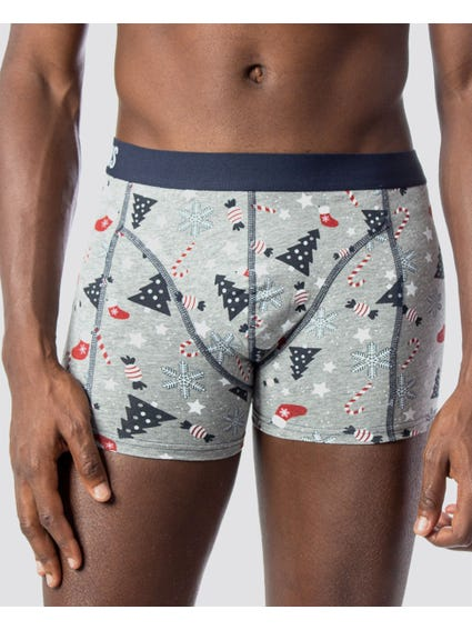 3-Pack Printed Fit Trunks