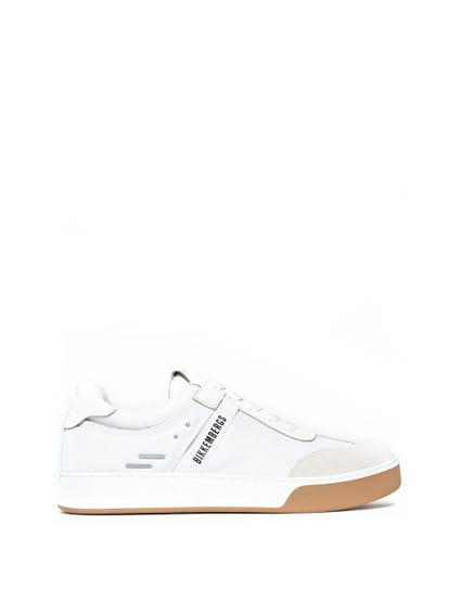 White Round Toe Suede Sneakers