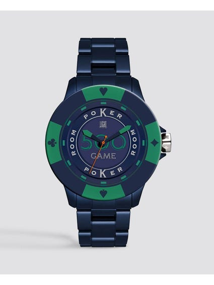 Blue Green Poker Quartz Watch