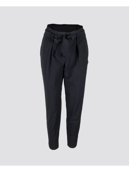 Black Belted Full Length Trouser