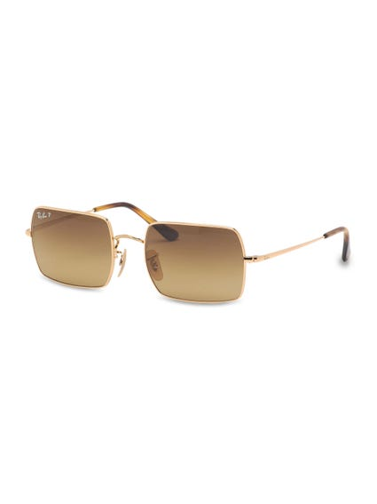 Yellow Gold Rectangular Sunglasses