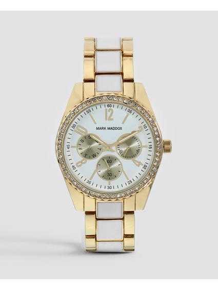 Gold Two Tone Stainless Steel Watch