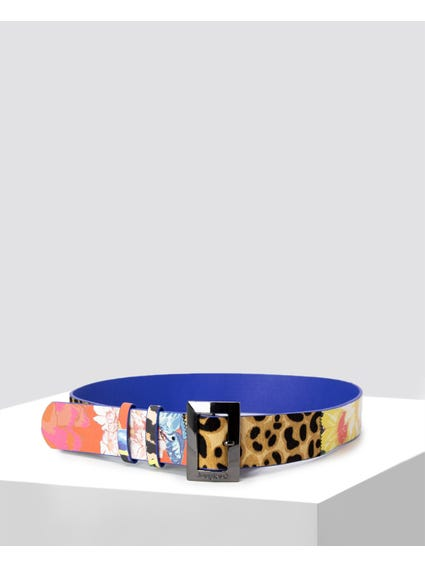 Double Keeper Contrast Print Belt