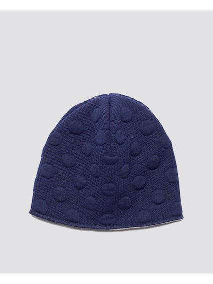 Pattern Printed Blue Beanie
