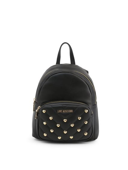 Leather Quilted Studs Backpack