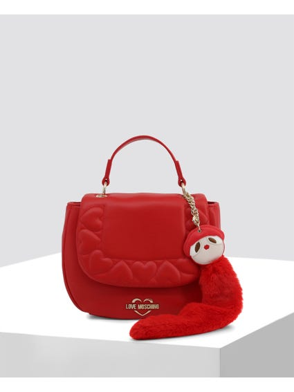 Red Removable Strap Handbag