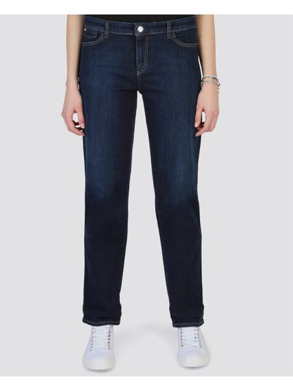Denim Button Zip Jeans