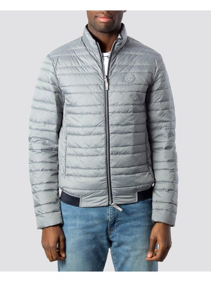 Grey Patch Duffle Jacket