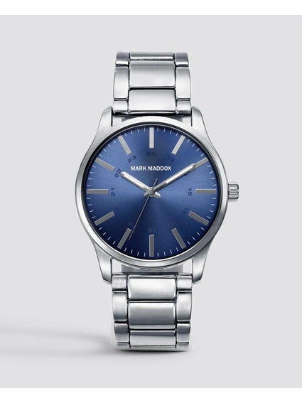 Blue Dial Stainless Steel Quartz Watch