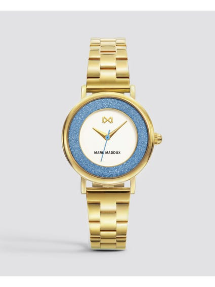 Gold Casual Stainless Steel Watch