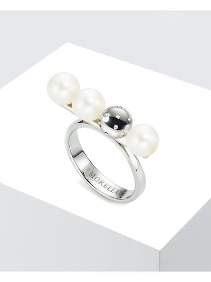 Silver Natural Pearls Lunai Ring