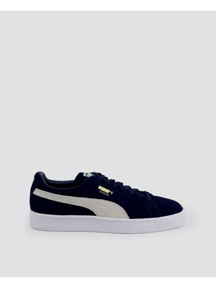 Navy Classic Suede Low Top Sneakers