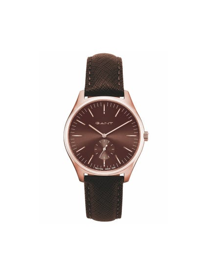 Buckle Leather Analog Watch