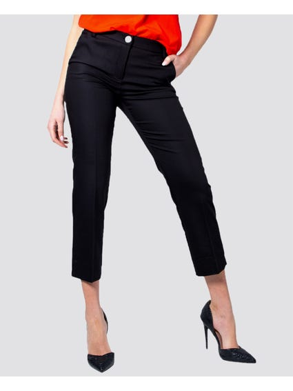 Button Zip Plain Trouser