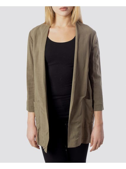 Full Green Open Pocket Blazer