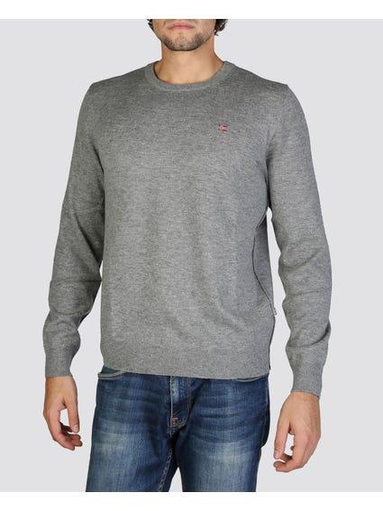 Grey Logo Printed Sweatshirt