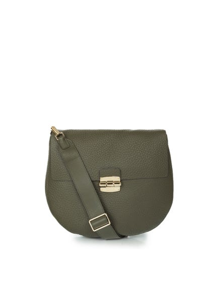 Green Pattern Metallic Luck Crossbody Bag