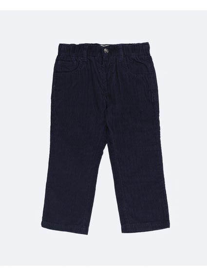 Navy Soft Fabric Kids Trouser