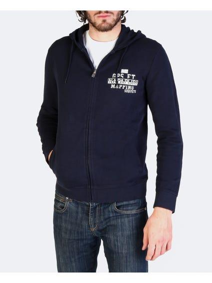 Navy Bebac Zip Up Sweatshirt
