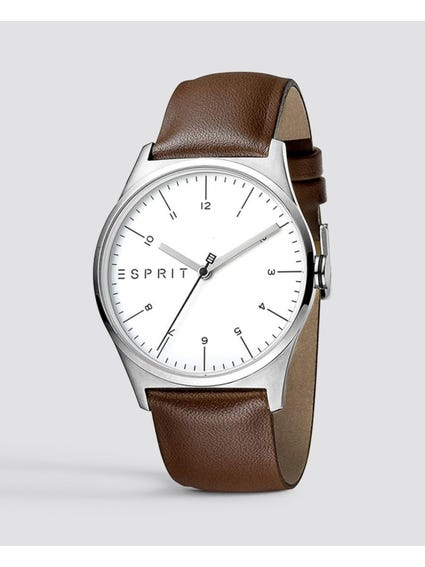 White Dial Leather Watch