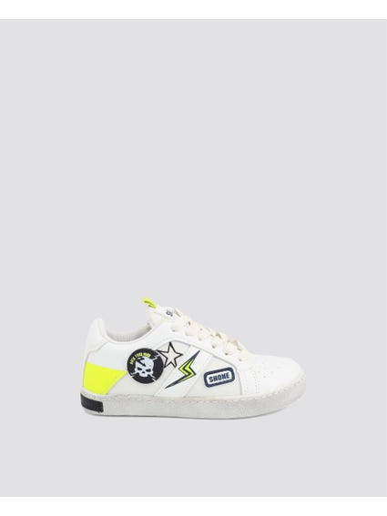 White Patch Kid Sneakers