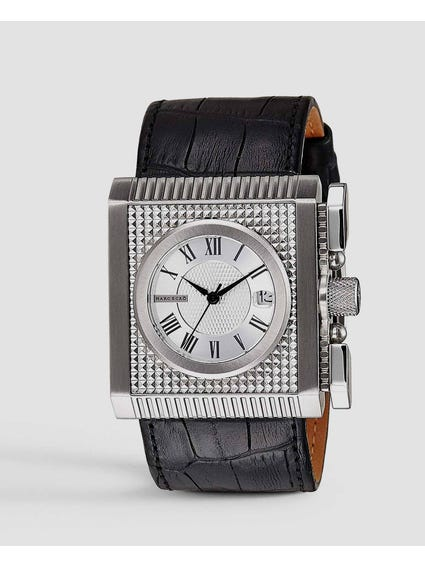 Wall Street Leather Quartz Watch