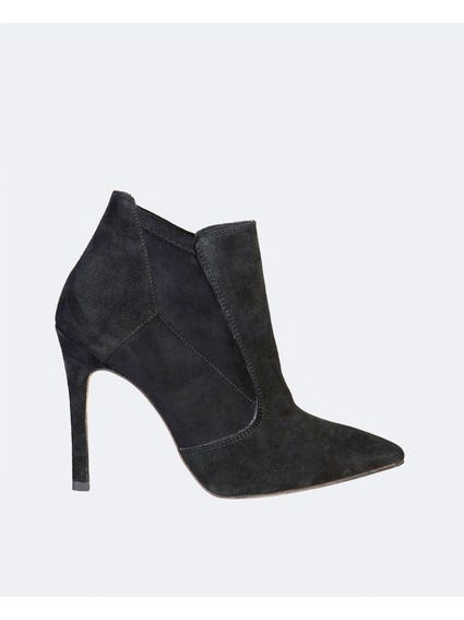 Black Francy Tunit Sole Ankle Boots