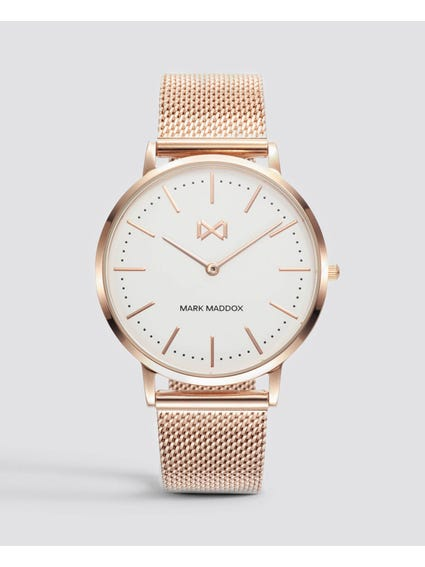 Rose Gold Stainless Steel Mesh Watch