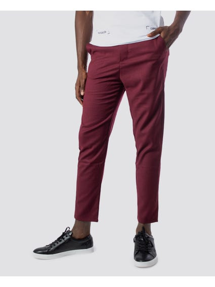 Red Drawstring Tie Trouser