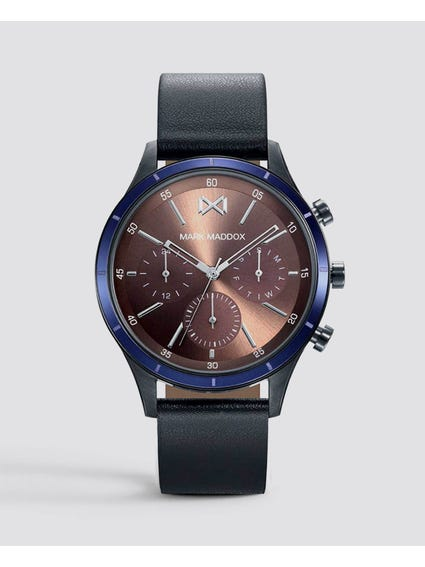 Leather Strap Multifunction Watch